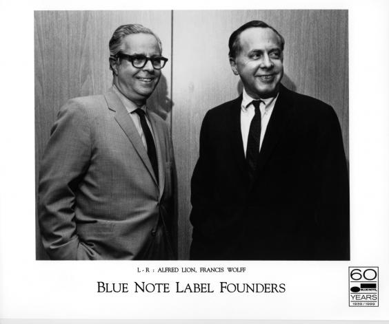 The owners of Blue note Records Alfred Lion (left) and Francis Wolff.jpg
