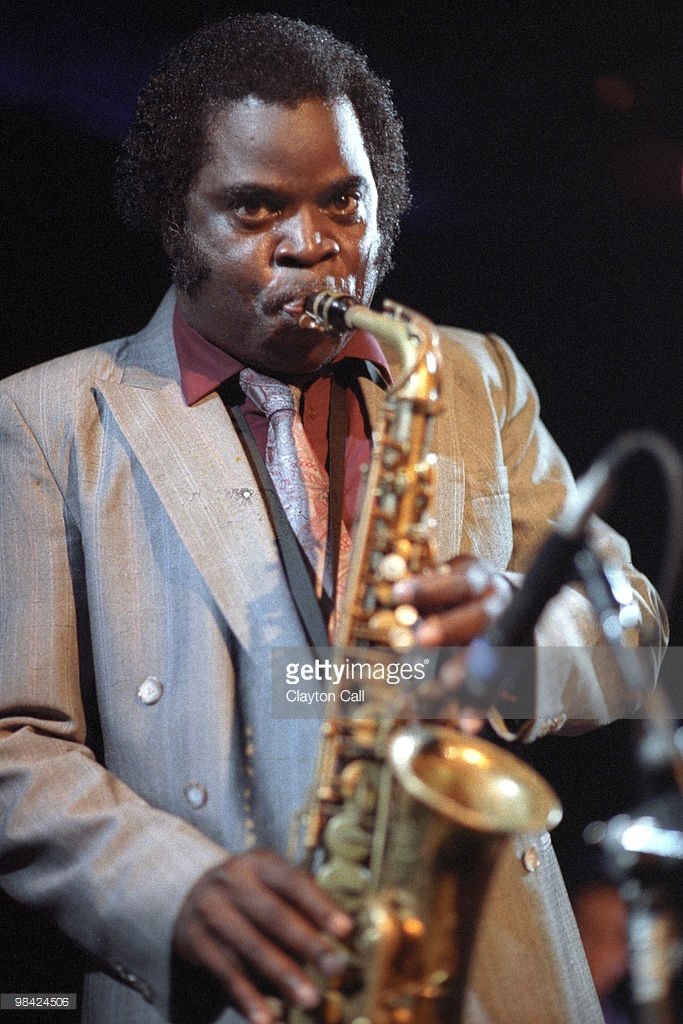 EMERYVILLE, CA-JUNE 12: Maceo Parker performing with the JB Horns at Kimball's East in Emeryville, CA on June 12, 1991. (Photo by Clayton Call/Redferns)